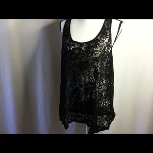 TORRID Black Lace Sleeveless Top Size 1